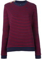 Zoe Karssen distressed knit striped sweater