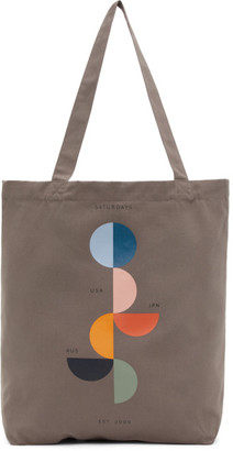 Saturdays NYC Grey United Tote Bag