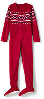 Classic Toddler Boys Full-zip Fleece Sleeper-Rich Red