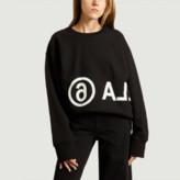 Maison Margiela Black Oversized Logo Sweatshirt - xs | cotton | black - Black/Black