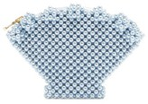 Shrimps Shell Faux-pearl Embellished Clutch - Womens - Blue