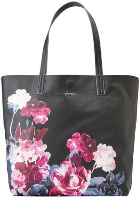 Joules Revery Floral Print Tote Bag, Black/Multi