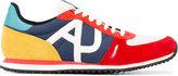 Armani Jeans Traforata logo sneakers - men - Cotton/Leather/Nylon/rubber - 6.5