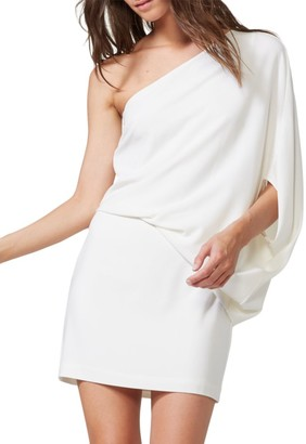 Halston Kai One-Shoulder Mini Dress