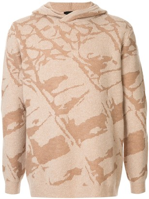 Emporio Armani Patterned Knit Hoody