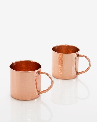 Express Shiraleah Boris Hammered Copper Mugs
