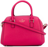 Kate Spade logo stamp tote - women - Leather/Polyester - One Size