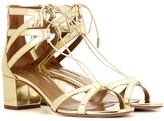 Aquazzura Beverly Hills 50 Metallic Leather Sandals