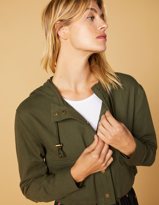 West Of Melrose Cinched It Cropped Womens Jacket