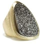 Rivka Friedman 18k Clad Druzy Ring.