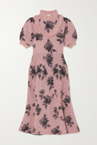 Thumbnail for your product : RED Valentino Ruffled Jacquard-knit Midi Dress - Pink