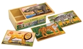 Melissa & Doug Kids Toy, Wild Animals Puzzle-in-a-Box