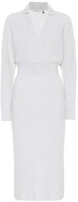 Agnona Cashmere and cotton-blend midi dress