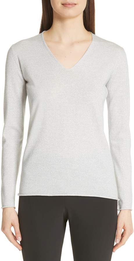 Fabiana Filippi Metallic Wool Blend Sweater