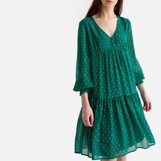 La Redoute Collections Embroidered Drop-Waist Dress