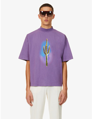Palm Angels Cactus-print cotton-jersey T-shirt
