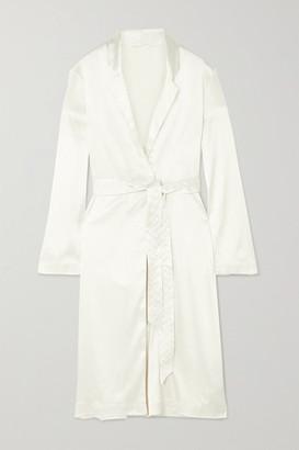 Calvin Klein Underwear Satin Robe - Ivory