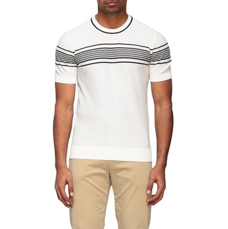 Paolo Pecora T-shirt Crew Neck Sweater With Contrasts