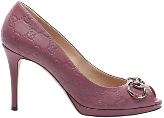 Gucci Pink Leather Heels