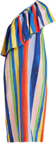 Mara Hoffman Rainbow Watercolour Stripe-print linen dress