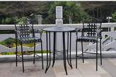 Three Posts Snowberry 3 Piece Wrought Iron Bar Height Bistro Patio Set Frame