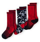 Classic Kids Athletic Crew Socks (3-pack)-Bright Cherry Multi