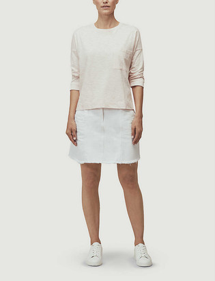 Whistles Long-sleeved relaxed-fit cotton T-shirt