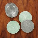 west elm Faux Shagreen Coasters (Set of 4)