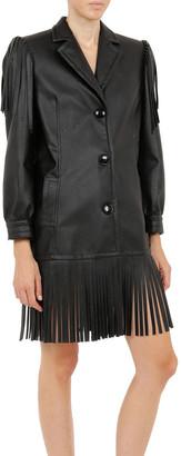 Philosophy di Lorenzo Serafini Eco-Leather Fringe Jacket Dress