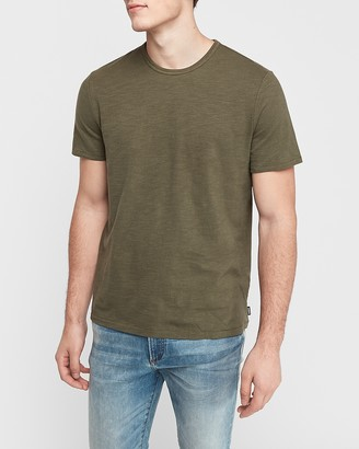 Express Textured Crew Neck T-Shirt