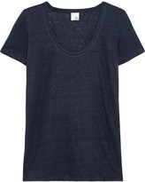 Iris and Ink Linen-jersey T-shirt