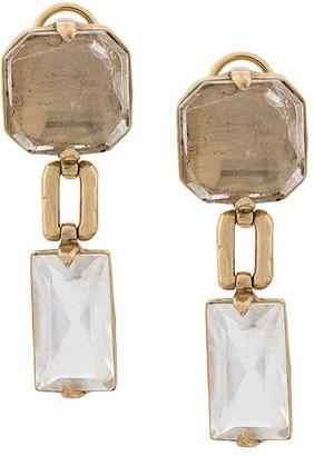 Goossens square clip on earrings