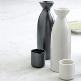 Japanese Ceramic Sake Flask and Cups