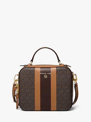 MICHAEL Michael Kors MK Jet Set Medium Logo Stripe Crossbody Bag - Brn/acorn - Michael Kors