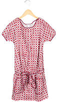 Little Marc Jacobs Girls' Floral Print A-Line Dress