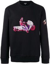 Lanvin motorcycle patch sweatshirt - men - Cotton/Spandex/Elastane - M