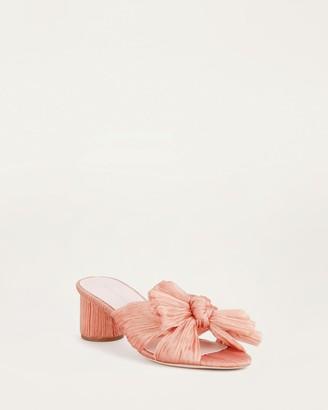 Loeffler Randall Emilia Pleated Knot Sandal Pink