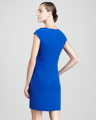 Rachel Roy Ruffled Crepe Dress