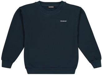 Balenciaga Kids Logo cotton-jersey sweatshirt