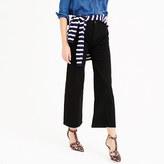 J.Crew Petite Rayner wide-leg jean in black