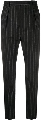 Saint Laurent Pinstripe High-Waisted Trousers