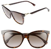 Fendi Women's 55Mm Cube Retro Sunglasses - Black
