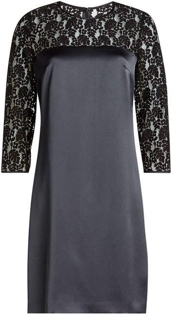 HUGO Satin Dress with Lace