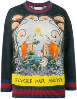 Gucci L'Aveugle Par Amour sweatshirt - women - Cotton/Polyamide/Spandex/Elastane/Metallic Fibre - XS