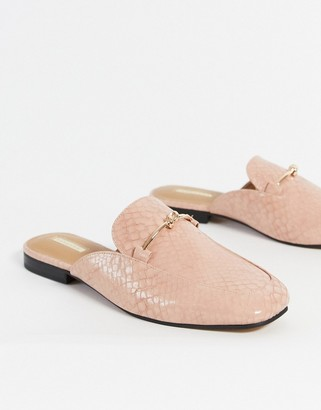 Topshop loafers in pink