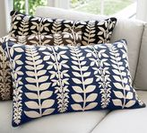 Leafy Branch Lumbar Pillow Cover