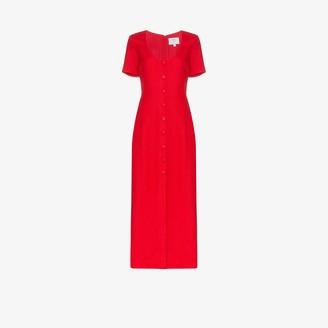 Rebecca De Ravenel Buttoned linen dress