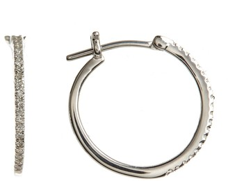 Carriere Sterling Silver Diamond 20mm Hoop Earrings - 0.16 ctw