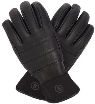 Bogner Thea Technical Leather Ski Gloves - Black