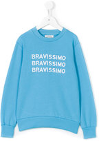 10X10 An Italian Theory Kids bravissimo embroidered sweatshirt